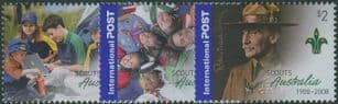 AUS SG2917-9 Domestic & International Post: Centenary of Scouting in Australia set of 3