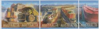 AUS SG2972-6 Heavy Haulers self-adhesive strip of 5 from booklet (exSB285)