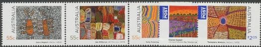 AUS SG3178a-82 Indigenous Culture, Paintings set of 5 including strip