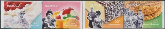 AUS SG3193-6 Not Just Desserts - Australian Desserts self-adhesive set of 4 from booklet (exSB329)
