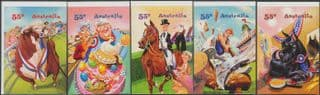 AUS SG3367-71 Come to the Show self-adhesive set of 5 from booklet (exSB345)