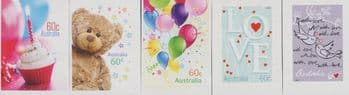 AUS SG3692-6 Special Occasions 2012: Precious Moments set of 5 from booklets (exSB388-92)