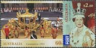 AUS SG3969-70 Diamond Jubilee of the Coronation of Queen Elizabeth II set of 2