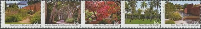 AUS SG3973a Australian Botanic Gardens (2nd Series) strip of 5