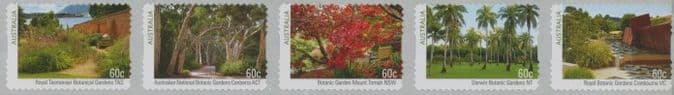 AUS SG3978a Australian Botanic Gardens (2nd Series) self-adhesive strip of 5 from roll