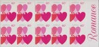 AUS SG4128a Special Occasions 2014: Romance self-adhesive self-adhesive booklet pane (SB462) of 10