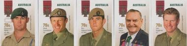 AUS SG4310-4 Australian Legends (19th Series): The Victoria Cross 5 s-a from booklets (exSB492-6)