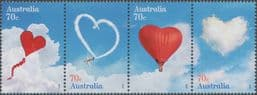 AUS SG4316a Special Occasions 2015: Love is in the Air strip of 4