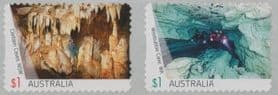 AUS SG4720a Australian Caves self-adhesive set of 2 from roll