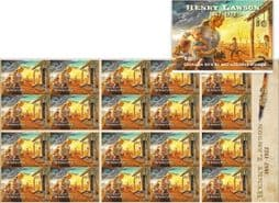 Australian Stamps SG4743a Henry Lawson: 1867-1922 self-adhesive booklet (SB576) pane