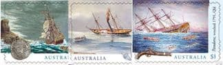 AUS SG4773-5 Shipwrecks self-adhesive set of 3 from booklet (exSB581)