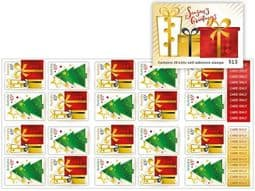 Australian Stamps SG4831a Christmas 2017 Festive Present and Tree self-adhesive booklet (SB591) pane