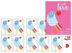 Australian Stamps SG4854a Special Occasions 2018: With Love self-adhesive booklet (SB598) pane