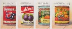 AUS SG4868-71 Vintage Jam Labels self-adhesive set of 4 from booklets (exSB600-3)