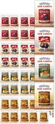 Australian Stamps SG4868a-71a Vintage Jam Labels self-adhesive set of 4 booklet (SB600-3) panes