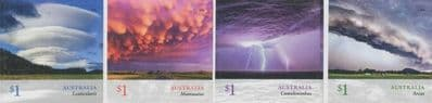 AUS SG4904-7 Cloudscapes self-adhesive set of 4 from booklets (exSB607-10)