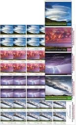 Australian Stamps SG4904a-7a Cloudscapes self-adhesive set of 4 booklet (SB607-10) panes