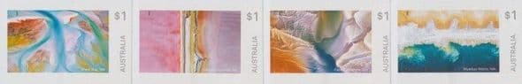 AUS SG4928-31 Art in Nature self-adhesive set of 4 from booklets (exSB615-8)