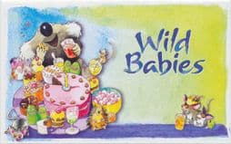 """Australian Presentation Pack P350 """"Wild Babies""""  set of 6 and two miniature sheets"""