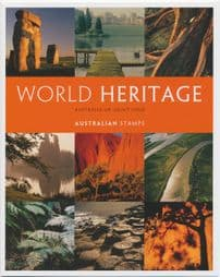Australian Presentation Pack P408 Joint Issue with UK: World Heritage Sites set of 8