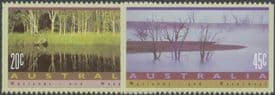 AUS SG1319b-20b Wetlands and Waterways perf 14 set of 2 from booklet (exSB76a)