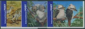 AUS SG2527-9 International Stamps: Bush Wildlife self-adhesives set of 3 from booklets (exSB183-5)