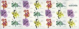 AUS SG2763c Australian Wildflowers (3rd series) self-adhesive booklet pane (SB227) of 20