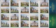AUS SG4002b Historical Architecture - Government Houses self-adhesive booklet pane (SB440)