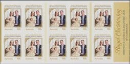 Australian Stamps SG4102a A Royal Christening self-adhesive booklet pane (SB453)