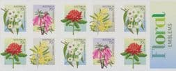 Australian Stamps SG4137a Floral State Emblems self-adhesive booklet pane (SB464) of 10