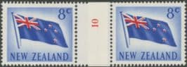 NZ Counter Coil Pair SG854 5c Flag Join No. 10 (NCC/109)