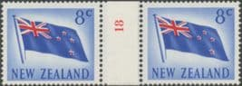 NZ Counter Coil Pair SG854 5c Flag Join No. 18 (NCC/107)