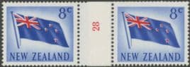 NZ Counter Coil Pair SG854 5c Flag Join No. 28 (NCC/110)