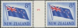 NZ Counter Coil Pair SG854 5c Flag Join No. 3 (NCC/108)