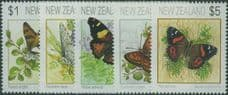 NZ SG1635-9 1991-95 Butterflies perf 14½ set of 5