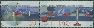 AAT SG168a-71 Aviation in the Australian Antarctic Territory set of 4 including pair
