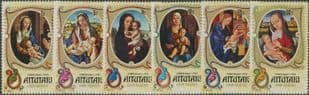 "Aitutaki SG129-34 Christmas 1974, showing ""Virgin and Child"" set of 6"