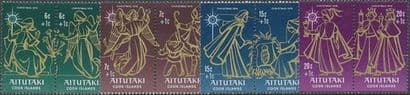 Aitutaki SG209-16 Children's Christmas Fund 1976 set of 8