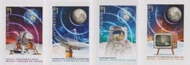 AUS 16/07/2019 Moon Landing: 50 Years self-adhesive set of 4 from booklets (exSB662-5)