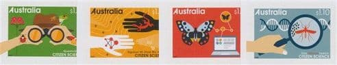 AUS 19/05/2020 Citizen Science self-adhesive set of 4 from booklets (exSB708-11)