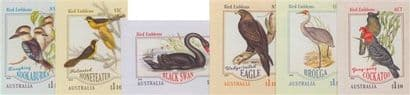 AUS 21/04/2020 Bird Emblems self-adhesive set of 6 from booklets (exSB701-6)
