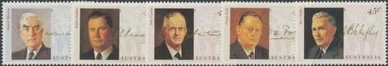 AUS SG1470-4 Wartime Prime Ministers set of 5 singles