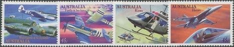 AUS SG1578-81 Military Aviation set of 4 singles