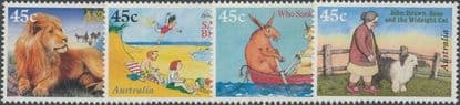 AUS SG1630-3 50th Anniversary of Children's Book Council Awards set of 4 singles