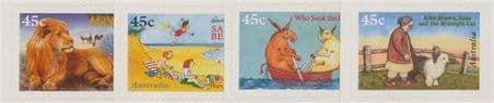 AUS SG1634-7 50th Anniversary of Children's Book Council Awards s-a set of 4 from booklet (exSB109)
