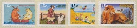 AUS SG1634-7 50th Anniversary of Children's Book Council Awards s-a set of 4 singles from roll