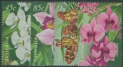 Australian Stamps SG1800-3 Australia-Singapore Joint Issue: Orchids set of 4