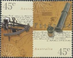 Australian Stamps 1998 SG1820-1 Bicentenary of the Circumnavigation of Tasmania by Bass and Flinders set of 2 singles