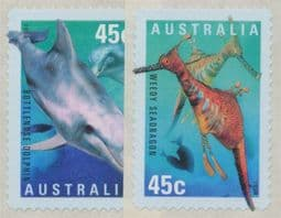 Australian Stamps 1998 SG1829-30 International Year of the Ocean self-adhesive set of 2 singles from roll