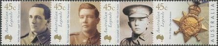 AUS SG1947-50 Australian Legends (4th series): Australia Day The Last Anzacs set of 4 singles